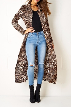 frontrow Leopard Print Coat - Product List Image