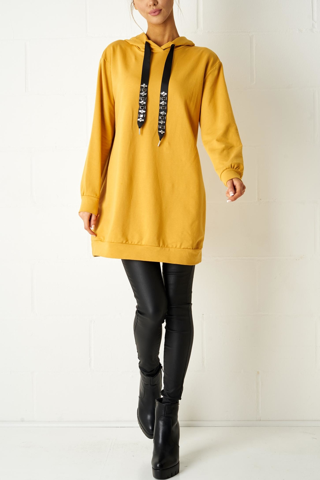 frontrow Mustard Oversized Top - Main Image