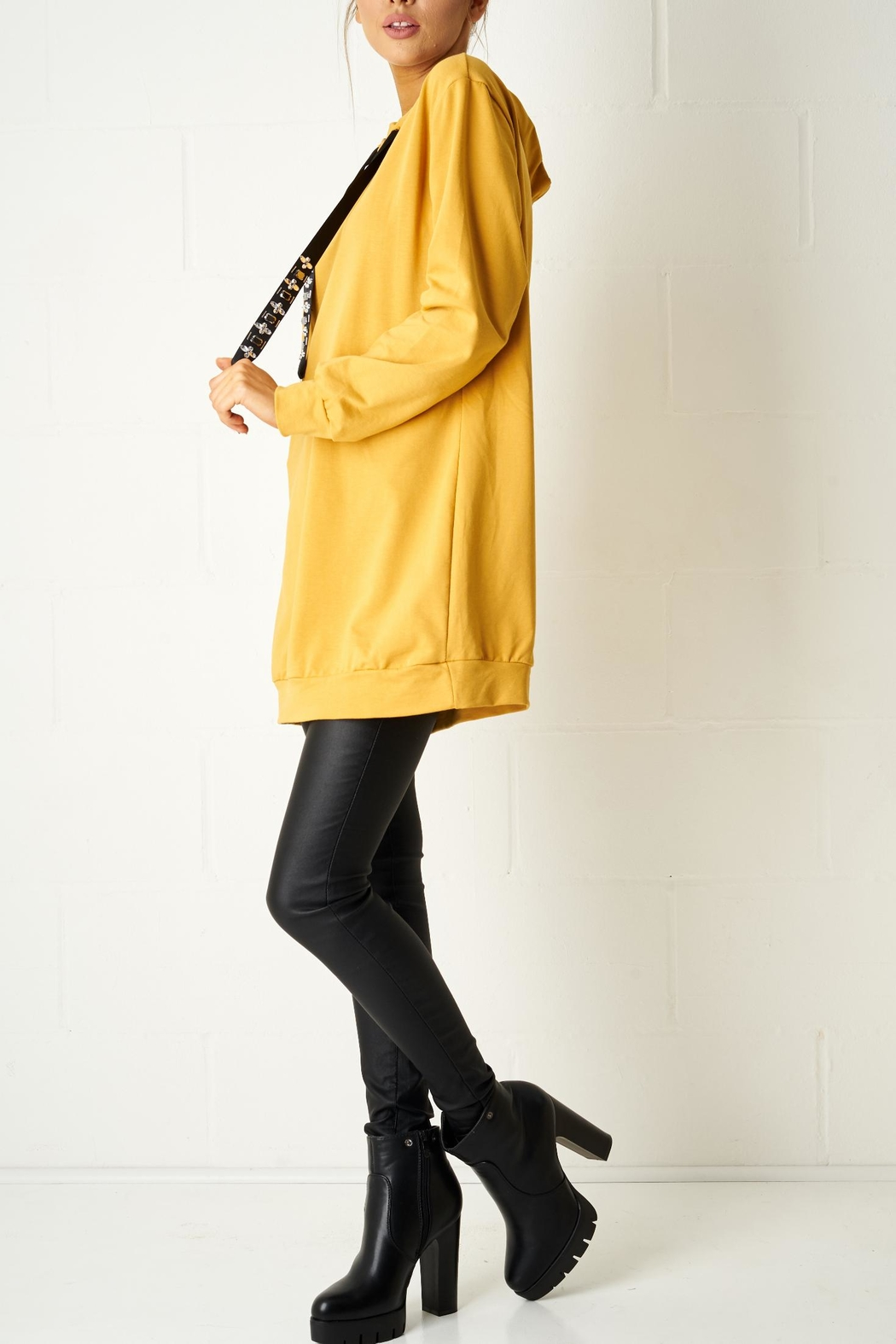 frontrow Mustard Oversized Top - Front Full Image