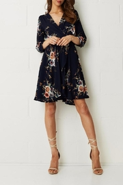 frontrow Navy Floral Dress - Product Mini Image
