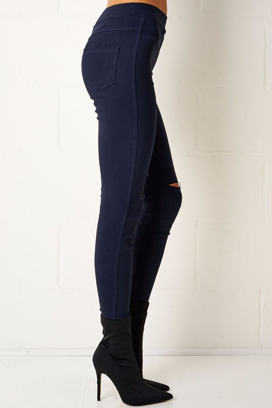 frontrow Navy Jeggings - Front Full Image