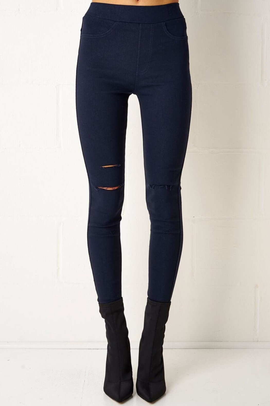 frontrow Navy Jeggings - Main Image