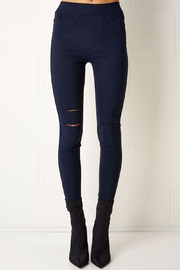 frontrow Navy Jeggings - Front cropped