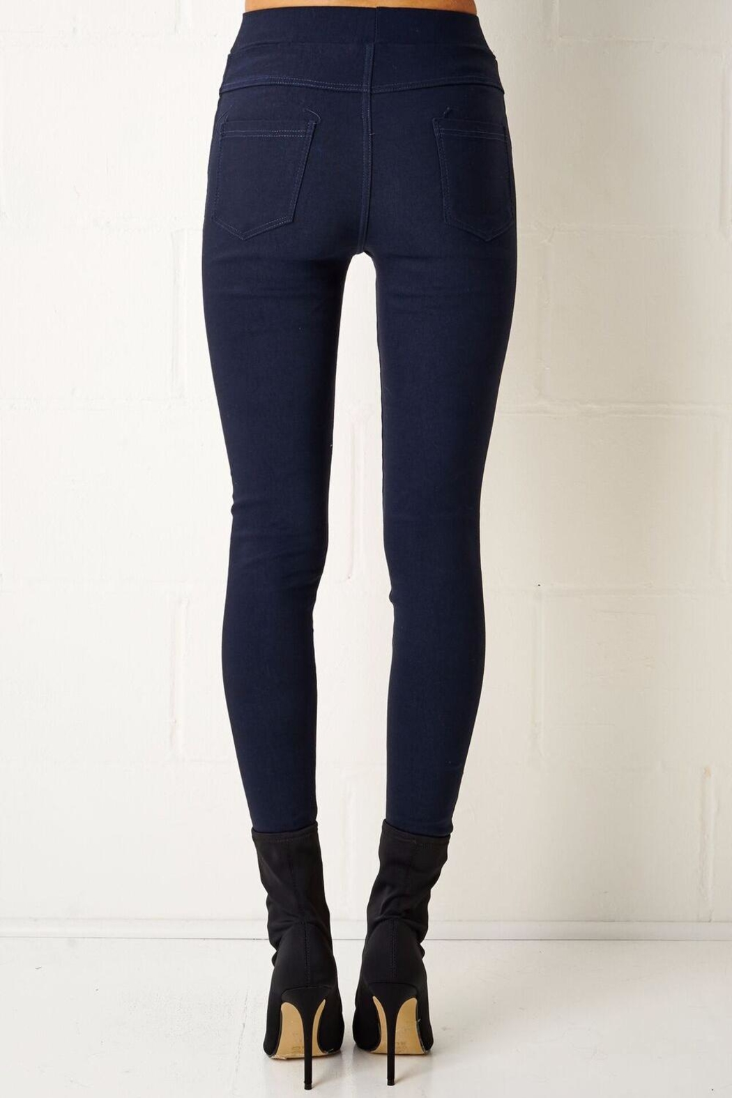 frontrow Navy Jeggings - Side Cropped Image