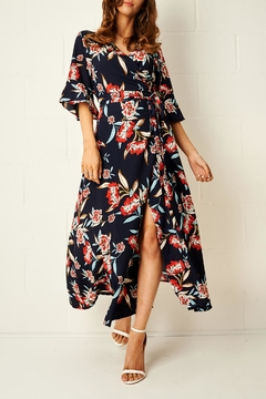 frontrow Navy Wrap Dress - Product List Image