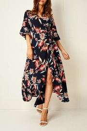 frontrow Navy Wrap Dress - Product Mini Image