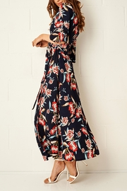 frontrow Navy Wrap Dress - Side cropped