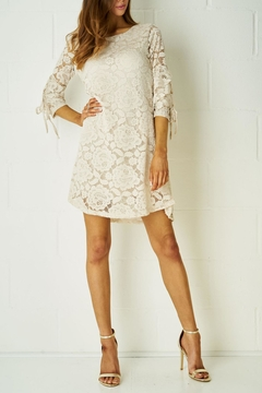 frontrow Nude Lace Dress - Product List Image