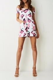 frontrow Pink Floral Playsuit - Product Mini Image