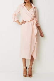 frontrow Pink Wrap Dress - Product Mini Image