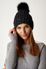 frontrow Pom Pom Hat - Front cropped