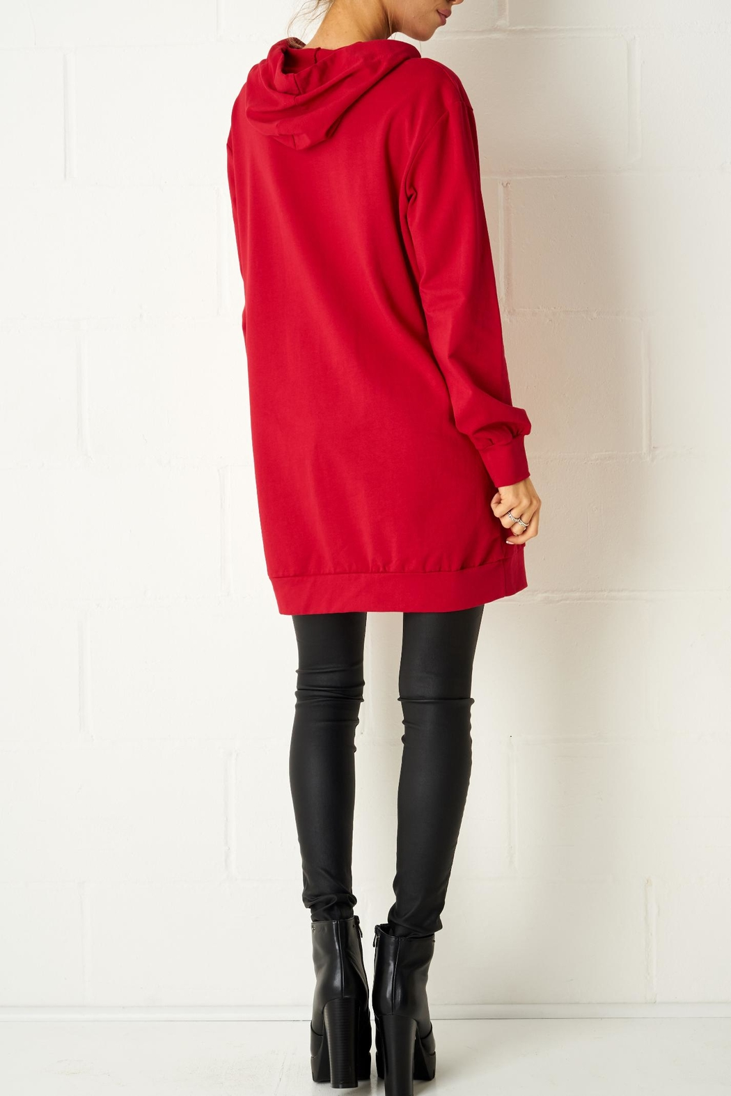 frontrow Red Oversized Top - Side Cropped Image