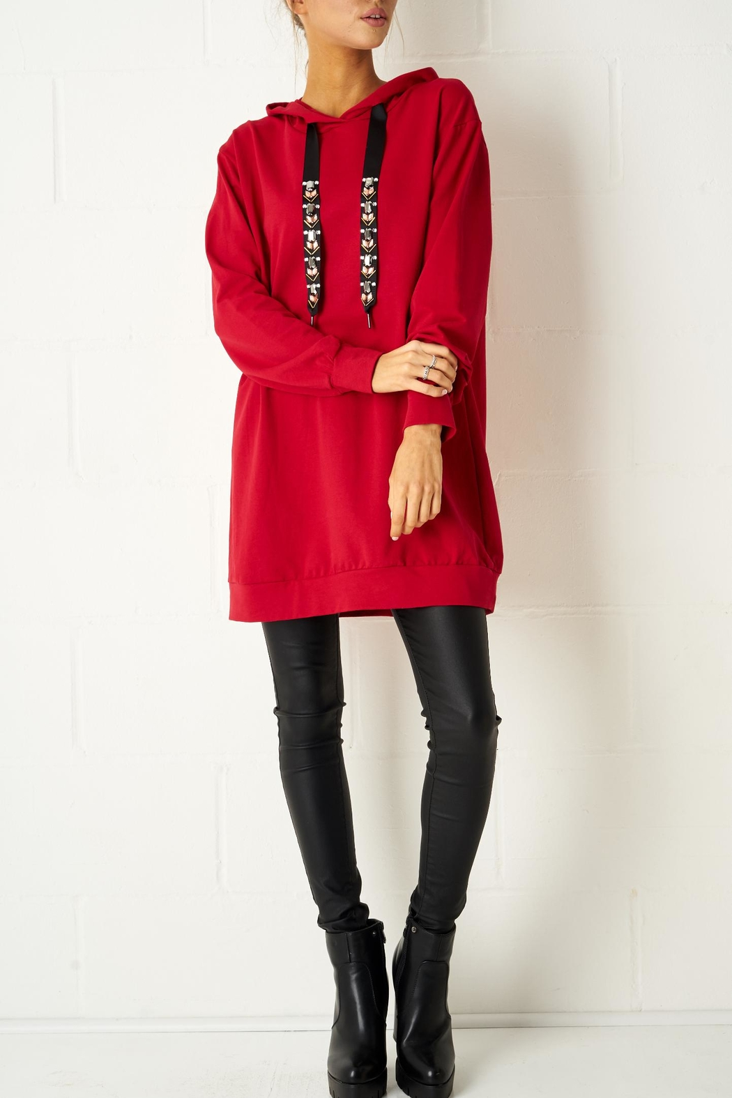 frontrow Red Oversized Top - Main Image