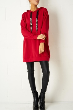 frontrow Red Oversized Top - Product List Image