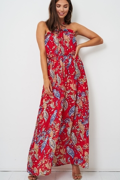frontrow Red Paisley Dress - Product List Image