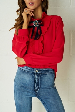frontrow Red Ribbon Blouse - Product List Image