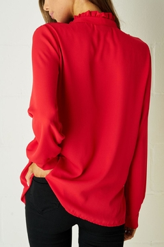 frontrow Red Ruffle Blouse - Alternate List Image