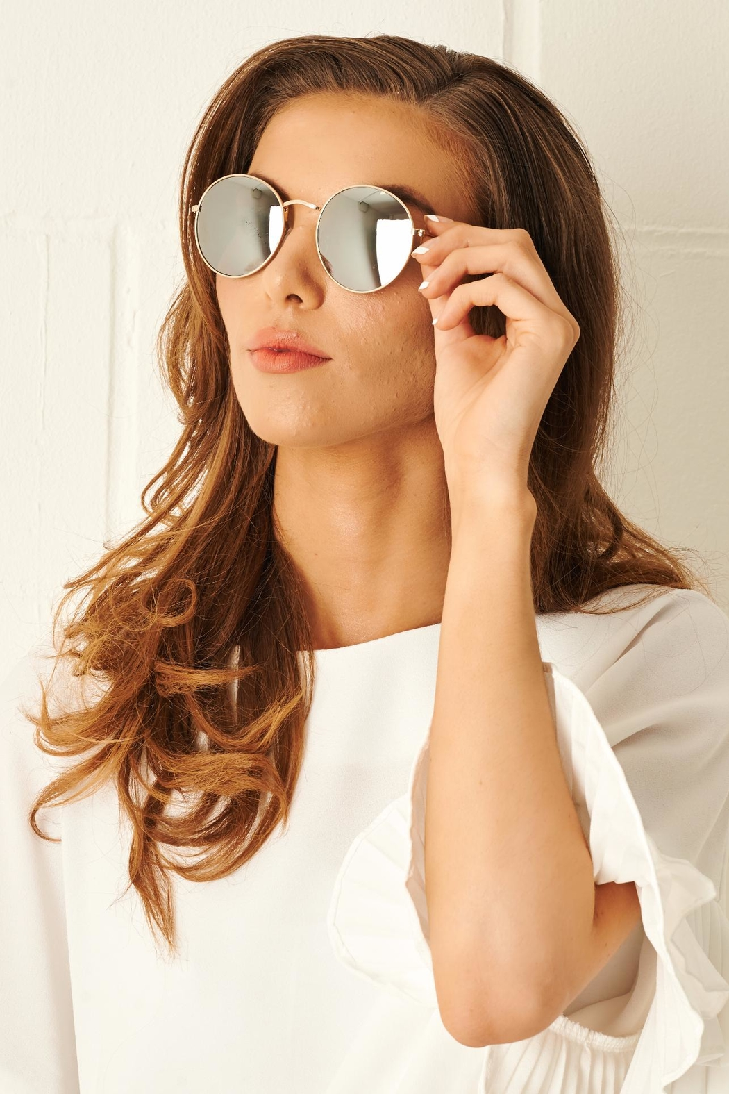 Frontrow Rose Gold Round Sunglasses From Essex By Frontrow Shoptiques