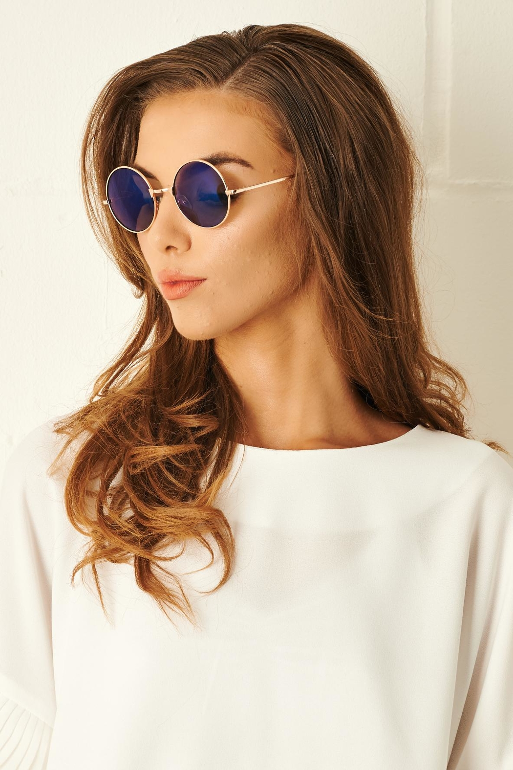 frontrow Round Blue Sunglasses - Main Image