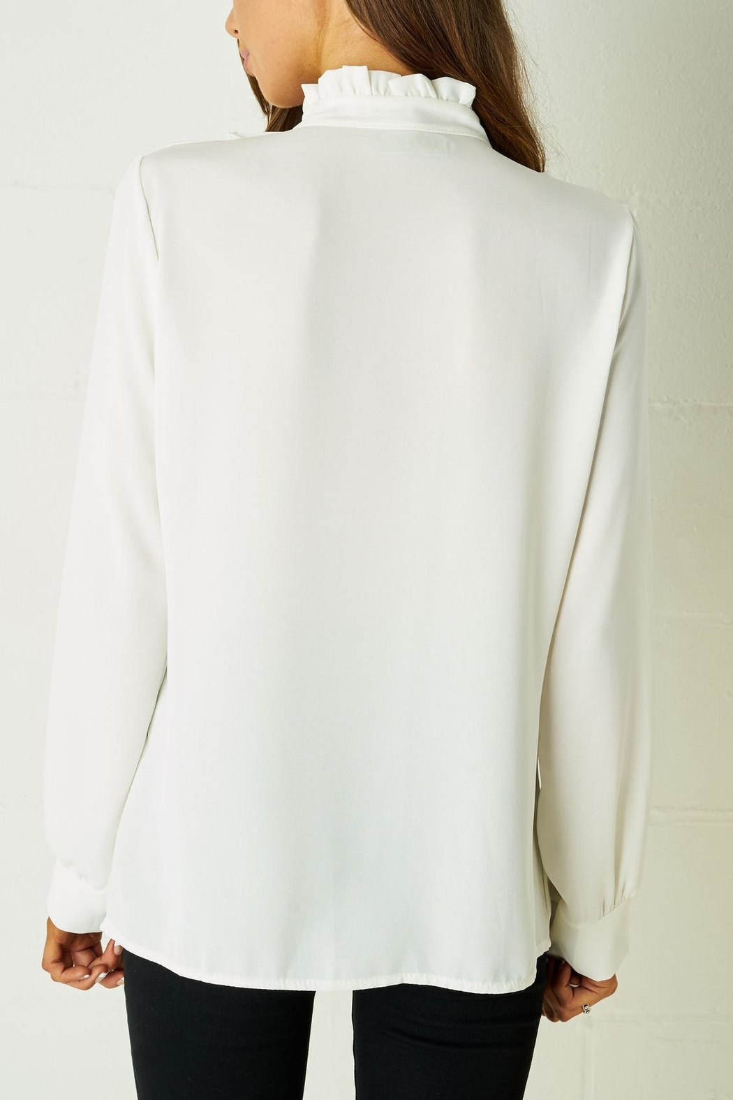 frontrow Ruffle Blouse White - Front Full Image