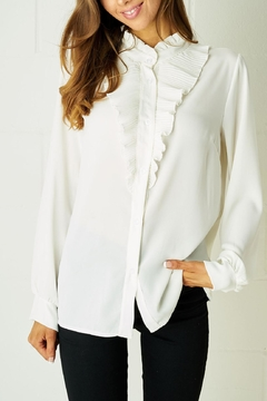frontrow Ruffle Blouse White - Product List Image