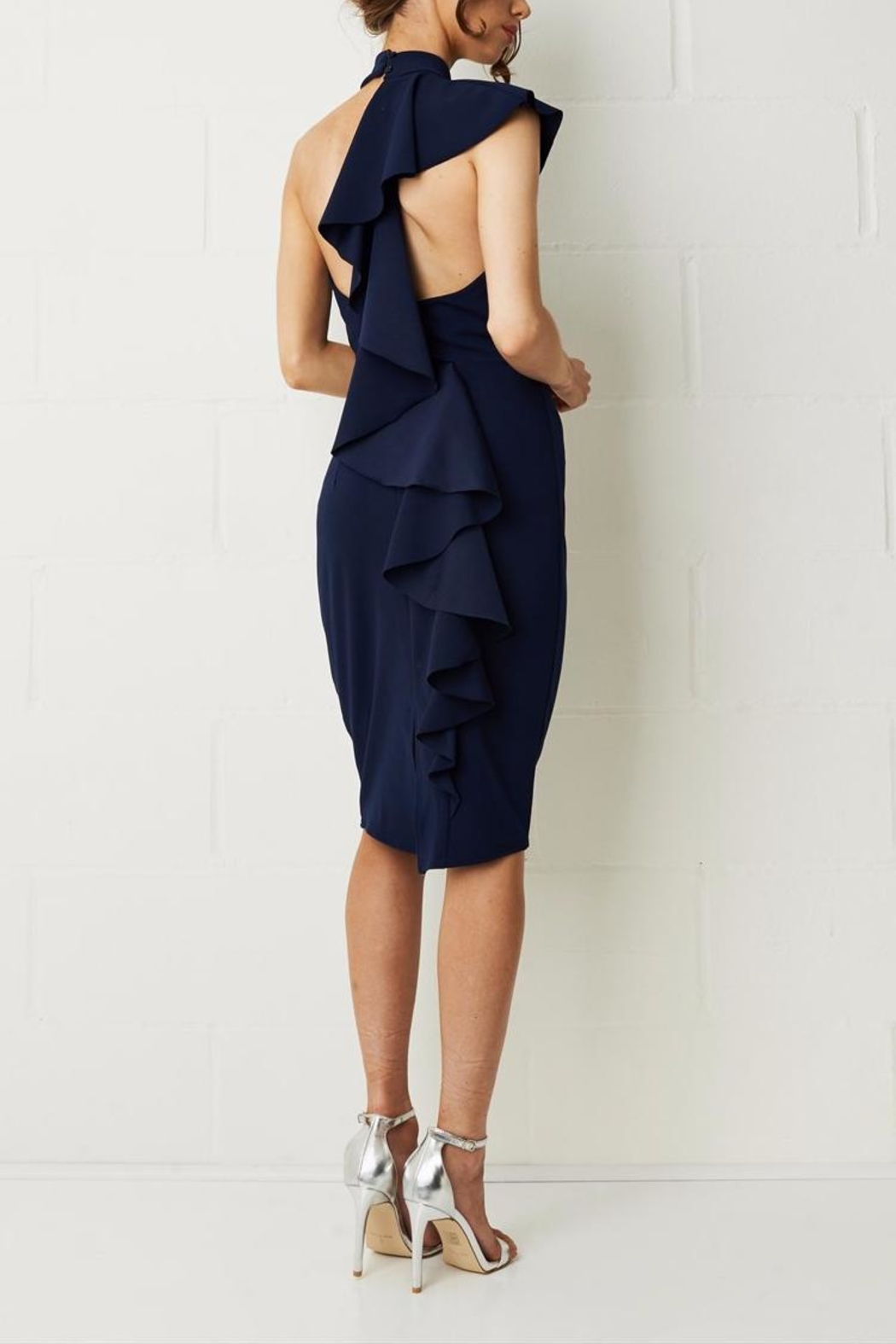frontrow Ruffle Bodycon Dress - Front Cropped Image
