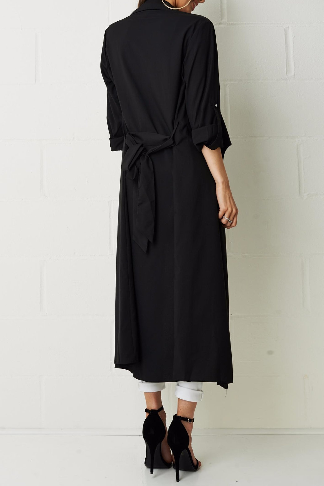 frontrow Silky Duster Coat - Side Cropped Image