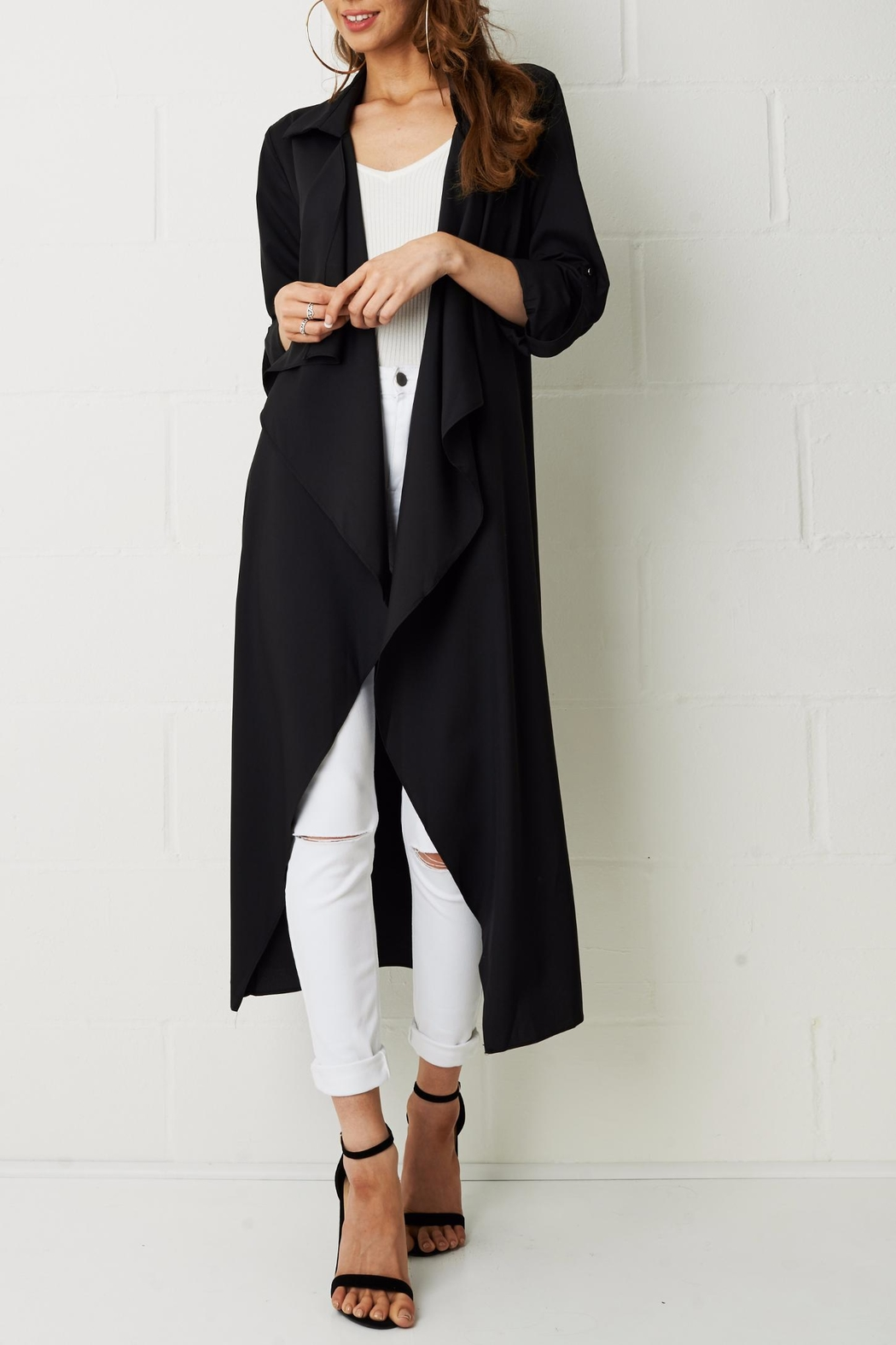 frontrow Silky Duster Coat - Front Full Image