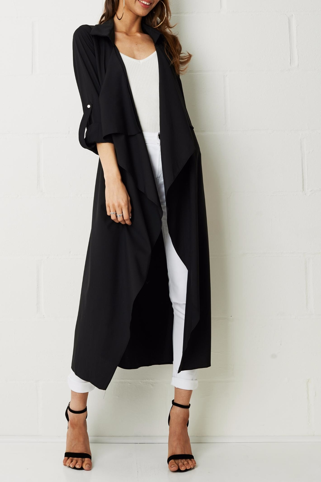 frontrow Silky Duster Coat - Main Image