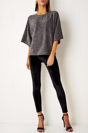 frontrow Silver Metallic Top - Front cropped