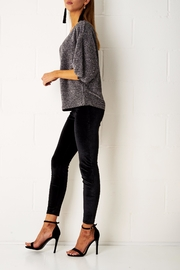 frontrow Silver Metallic Top - Front full body