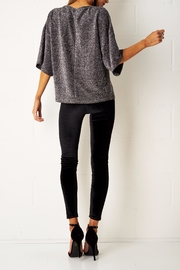 frontrow Silver Metallic Top - Side cropped
