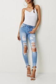 frontrow Skinny Ripped Jeans - Back cropped