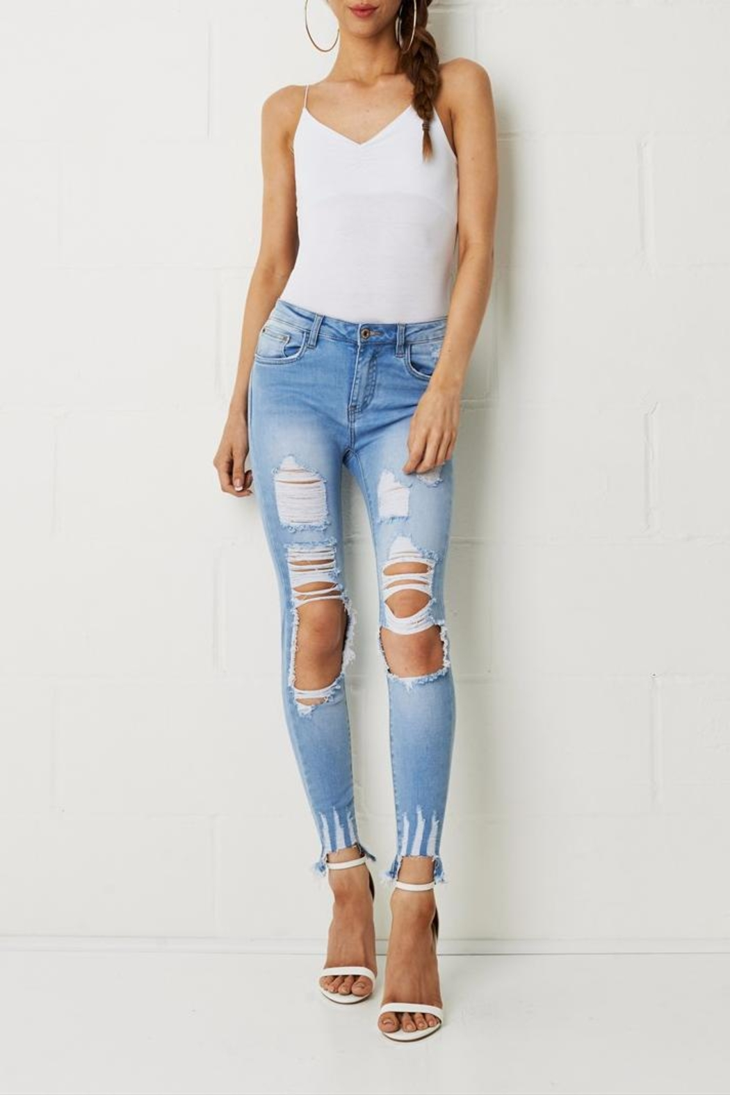 frontrow Skinny Ripped Jeans - Main Image