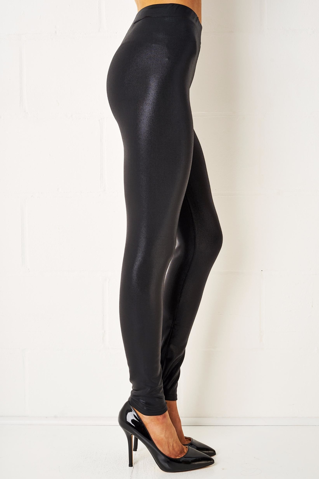 frontrow Stretch Shiny Leggings - Front Full Image