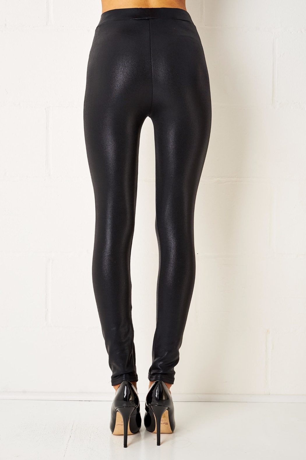 frontrow Stretch Shiny Leggings - Side Cropped Image