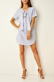 frontrow Stripe Shirt Dress - Product Mini Image