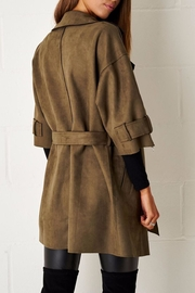 frontrow Suede Waterfall Coat - Side cropped