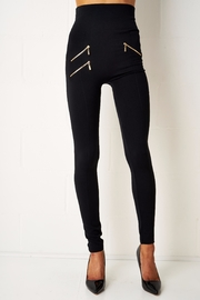 frontrow Thermal Zip Leggings - Front cropped