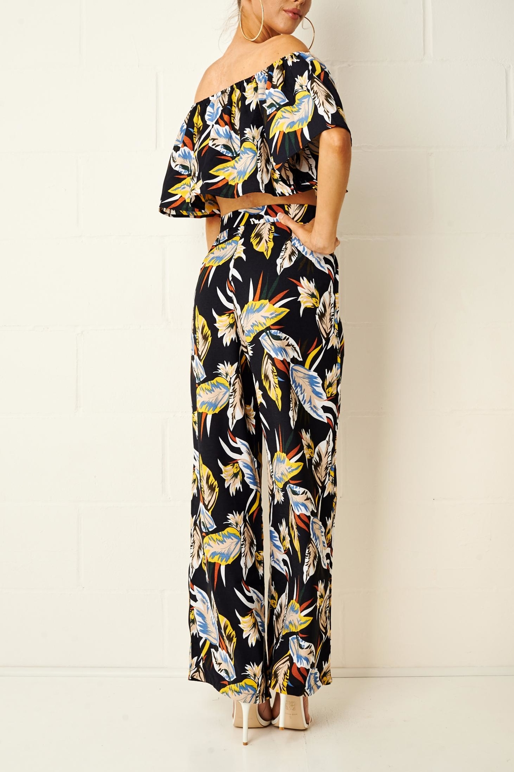 frontrow Tropical Trouser Set - Back Cropped Image
