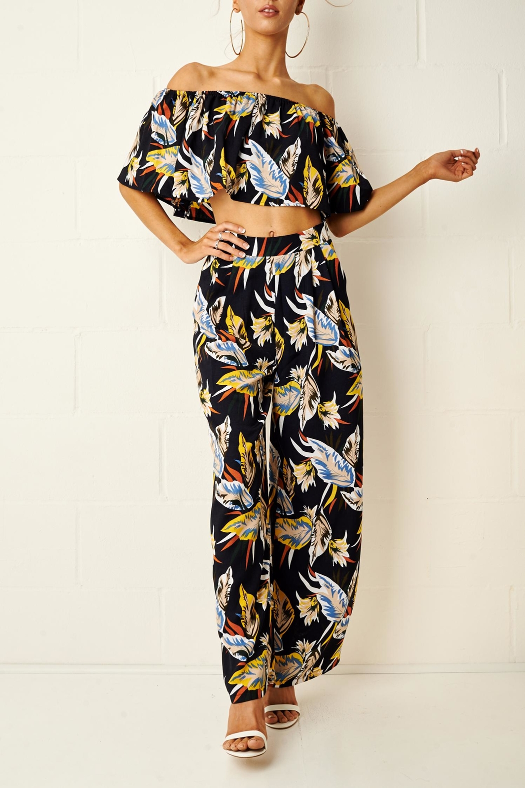 frontrow Tropical Trouser Set - Front Full Image