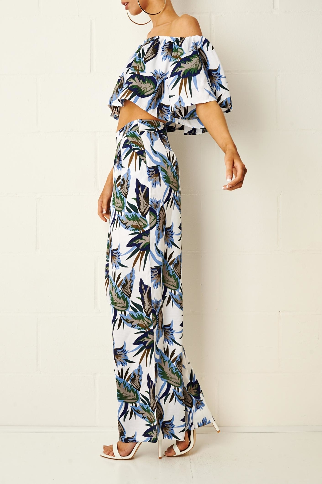 frontrow Tropical Trouser Set - Side Cropped Image