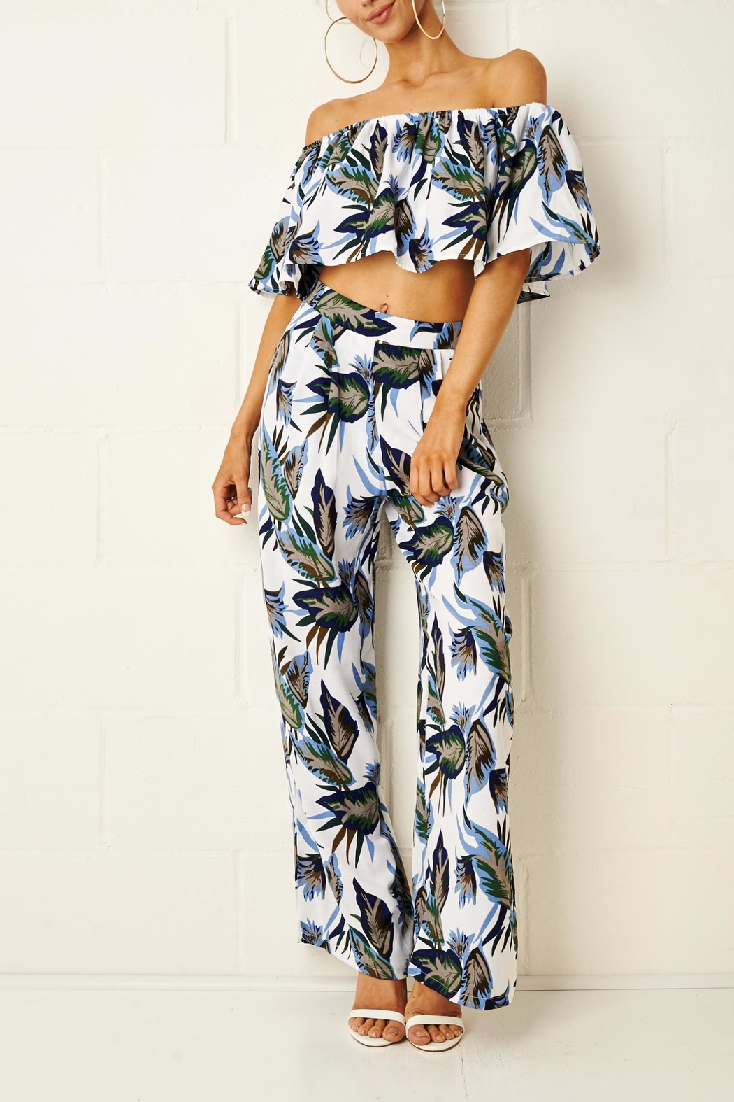 frontrow Tropical Trouser Set - Front Cropped Image