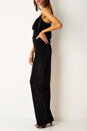 frontrow Velvet Frill Jumpsuit - Front full body