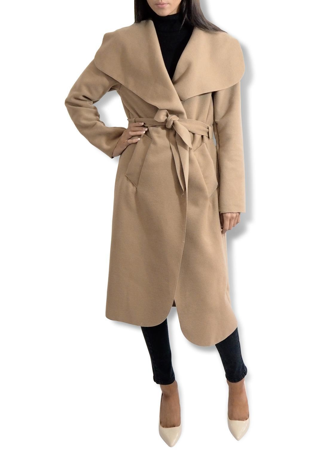 frontrow Waterfall Drape Coat - Front Full Image