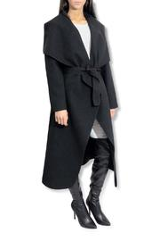 frontrow Waterfall Drape Coat - Front cropped