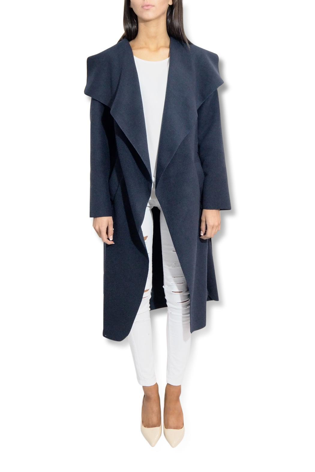 frontrow Waterfall Drape Coat - Front Cropped Image
