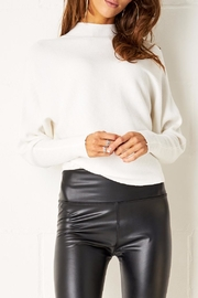 frontrow White Batwing Sweater - Product Mini Image