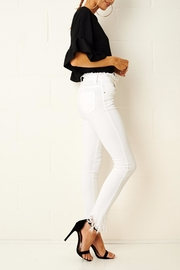 frontrow Anizia White Frayed Jeans - Back cropped