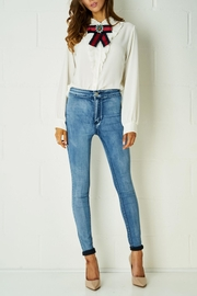 frontrow White Ribbon Blouse - Front full body